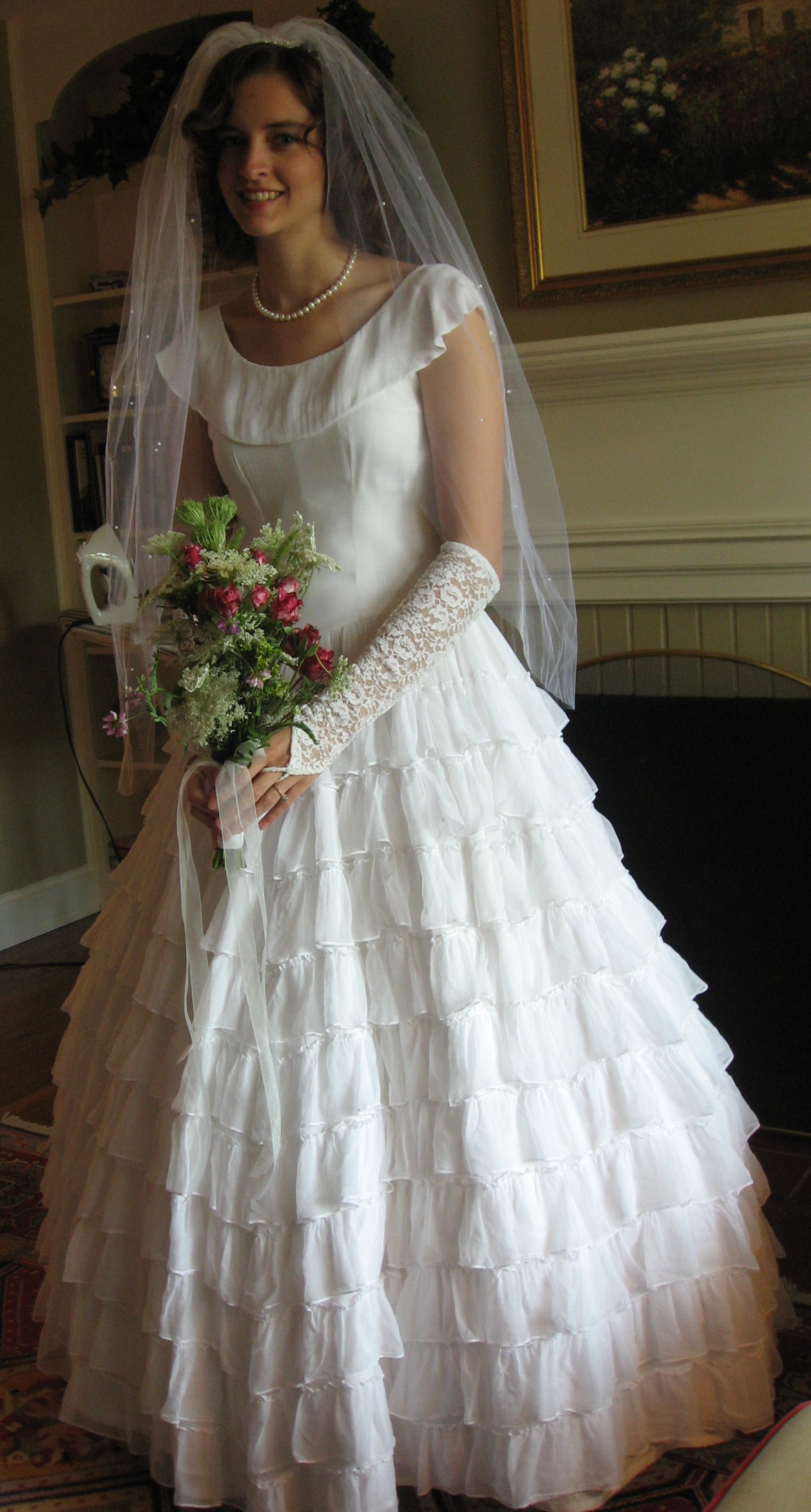 Classic cleaners restores 1947 wedding gown beautiful for Restoring old wedding dresses